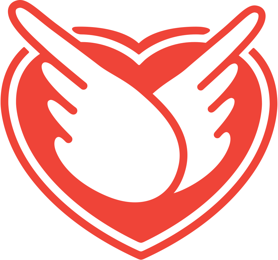 Combat Air Mail logo showing wings over a red heart.