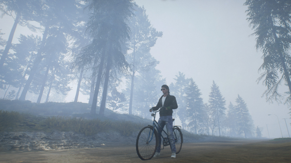 Cobra on a bicycle in Generation Zero.