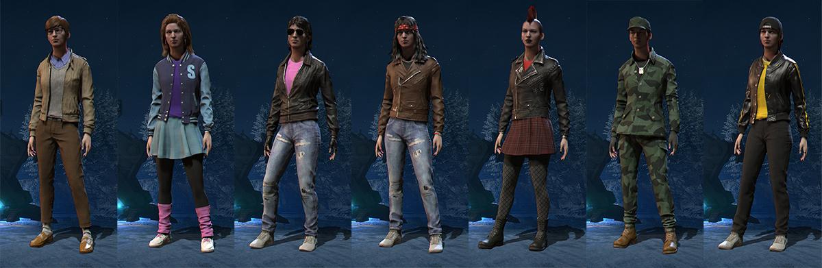 A few character fashion options.