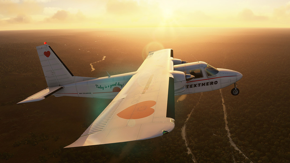 My Britten-Norman BN-2 Islander livery in Microsoft Flight Simulator.