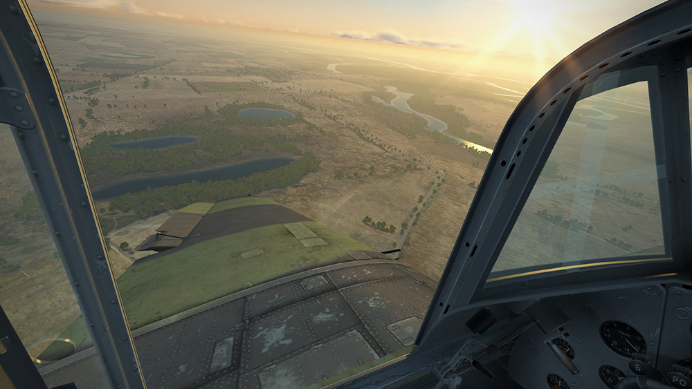 A gorgeous morning in the air!