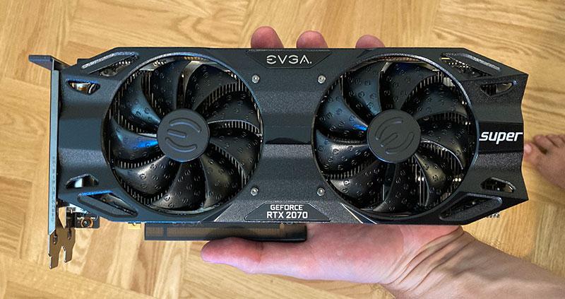My EVGA GeForce RTX 2070 Super Gaming, 8GB GDDR6.