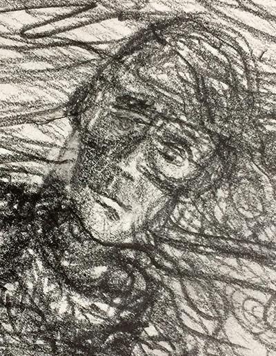 Self-portrait as aviator, angled.