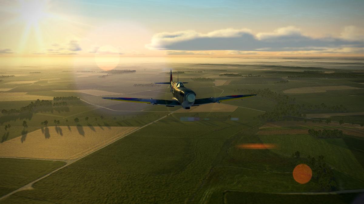 Spitfire Mk.IX in IL-2 Sturmovik Battle of Boddenplate, 1944.